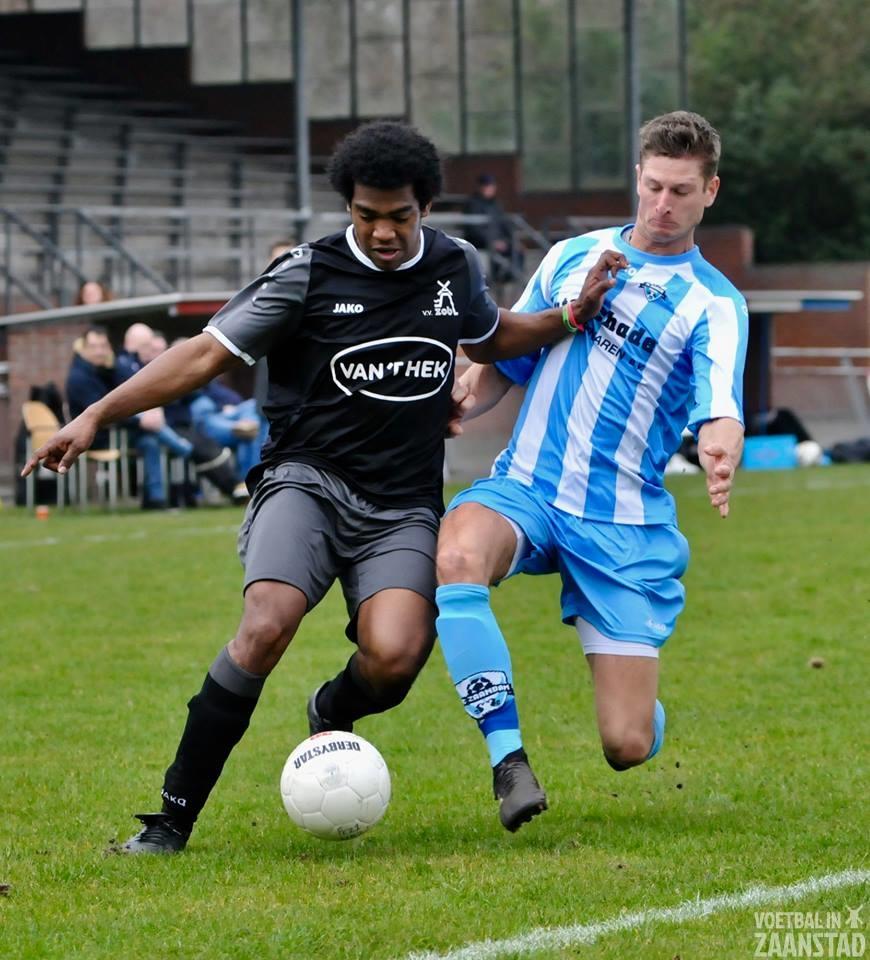 FC Zaandam minst gelukkige in duel met ZOB