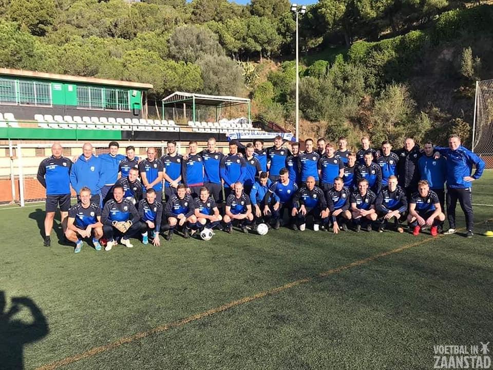 Selectie cvv Blauw Wit W verblijft in Barcelona