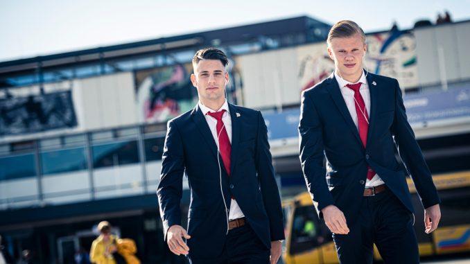 Erling Haaland (Borussia Dortmund) en Dominik Szoboszlai (Red Bull Salzburg)