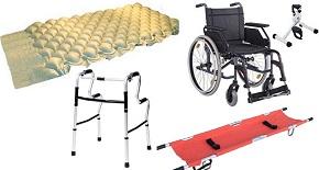 Наемане на помощни средства инвалидна количка, антидекубитален дюшек, проходилка