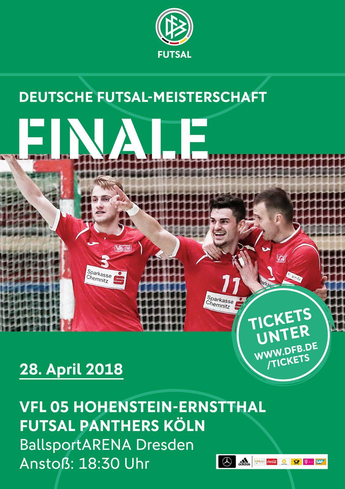 Endspiel um die Deutsche Futsalmeisterschaft – VfL Hohenstein/E. gegen die Futsal Panthers aus Köln