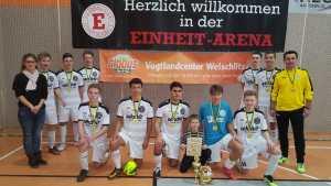 Hallenkreismeister bei den B-Junioren um den Globus Vogtlandcenter Cup wurde der VFC Plauen
