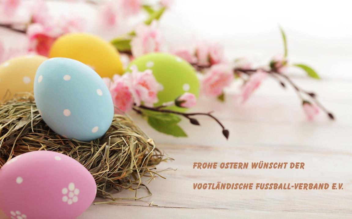 Der Vogtländische Fußball-Verband e.V. wünscht Frohe Ostern!
