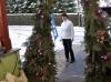 Weihnachtsdekoration bei draussen-leben in Greiz-Thalbach