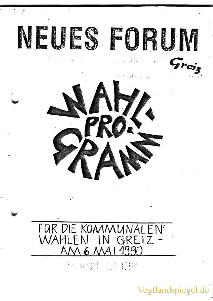 Neue Forum Greiz