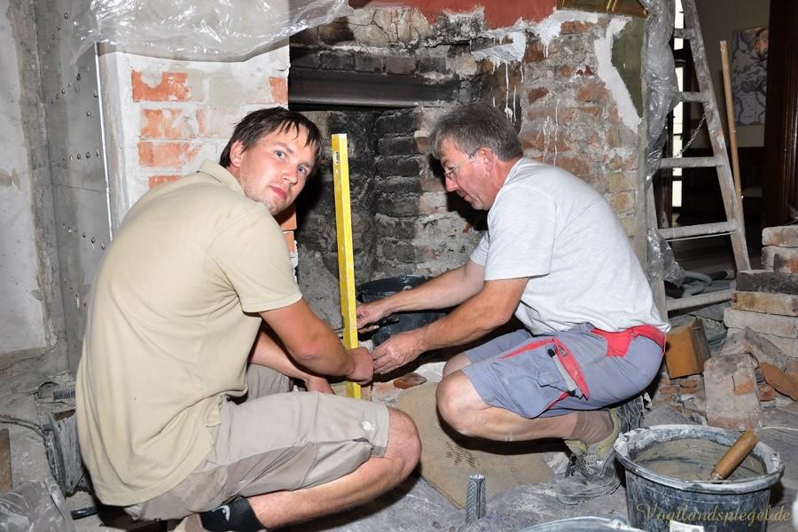 Sanierung des Grünen Salons im Unteren Schloss Greiz