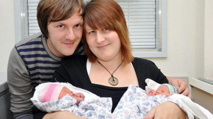 Zwillinge Lotta und Lina wurden am Freitag im Greizer Krankenhaus geboren