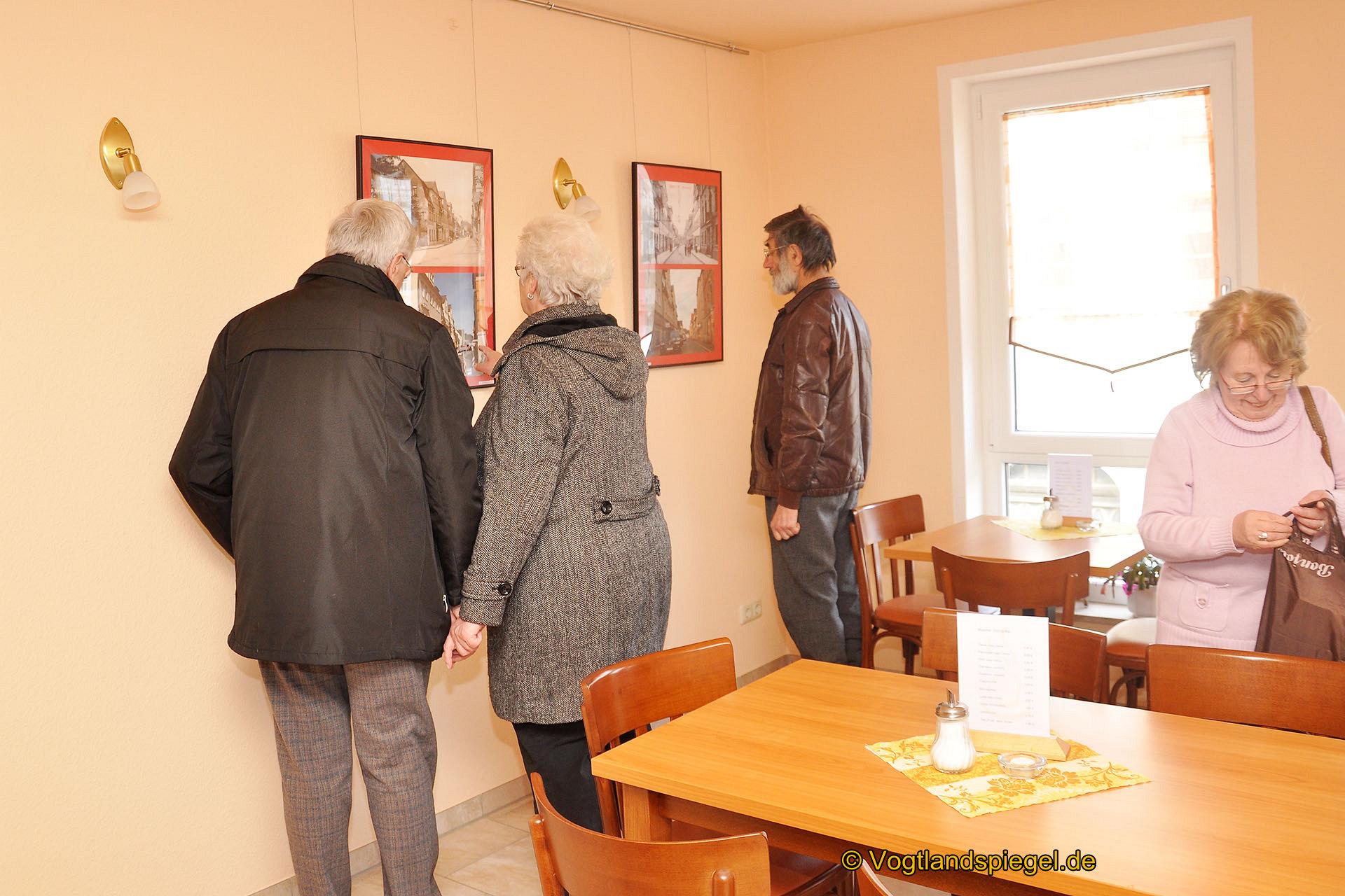 Fotoclub präsentiert »Altes Greiz aus neuer Sicht« im Café der Bäckerei und Konditorei Menz