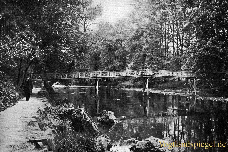 Die Luftbrücke im Greizer Park Anfang der 1920er Jahre