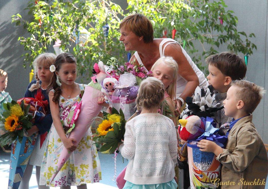 Schuleinführung in der Staatlichen Grundschule »Bertolt Brecht« im Greizer Stadtteil Obergrochlitz