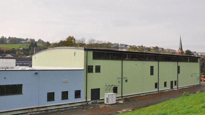 Bau der Greizer Zweifelder Sporthalle schreitet zügig voran