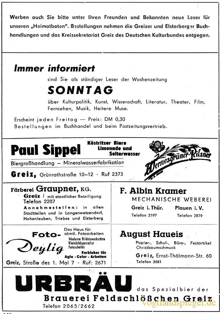 Greizer Heimatbote Mai 1962