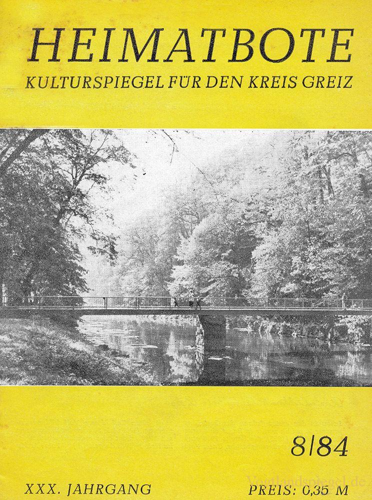 Greizer Heimatbote August 1984