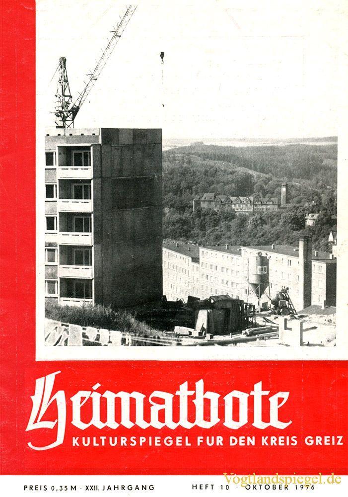Greizer Heimatbote Oktober 1976
