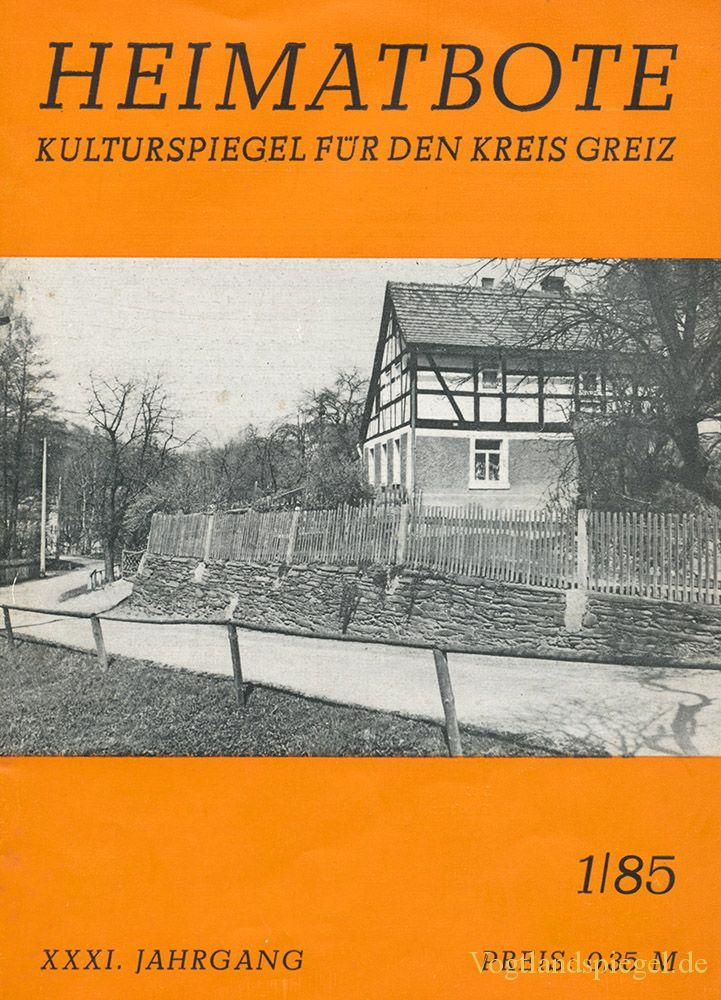 Greizer Heimatbote Januar 1985
