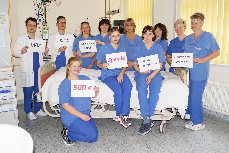Weihnachtsengel: Team der ITS spendet 500 Euro für Kinderhospiz Mitteldeutschland