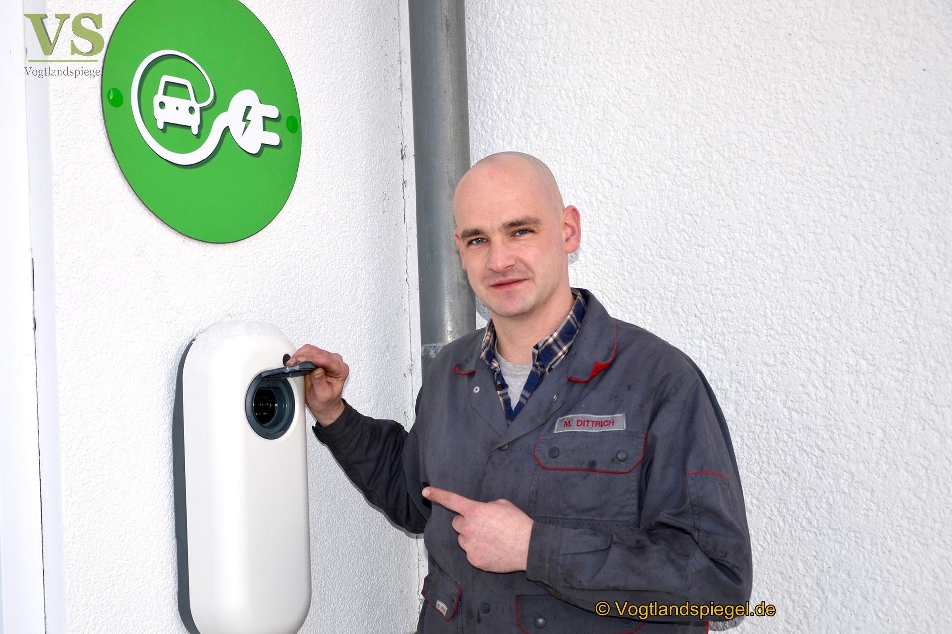 Neu: Ladestation bei Mohlsdorfer Autoservice Trützschler