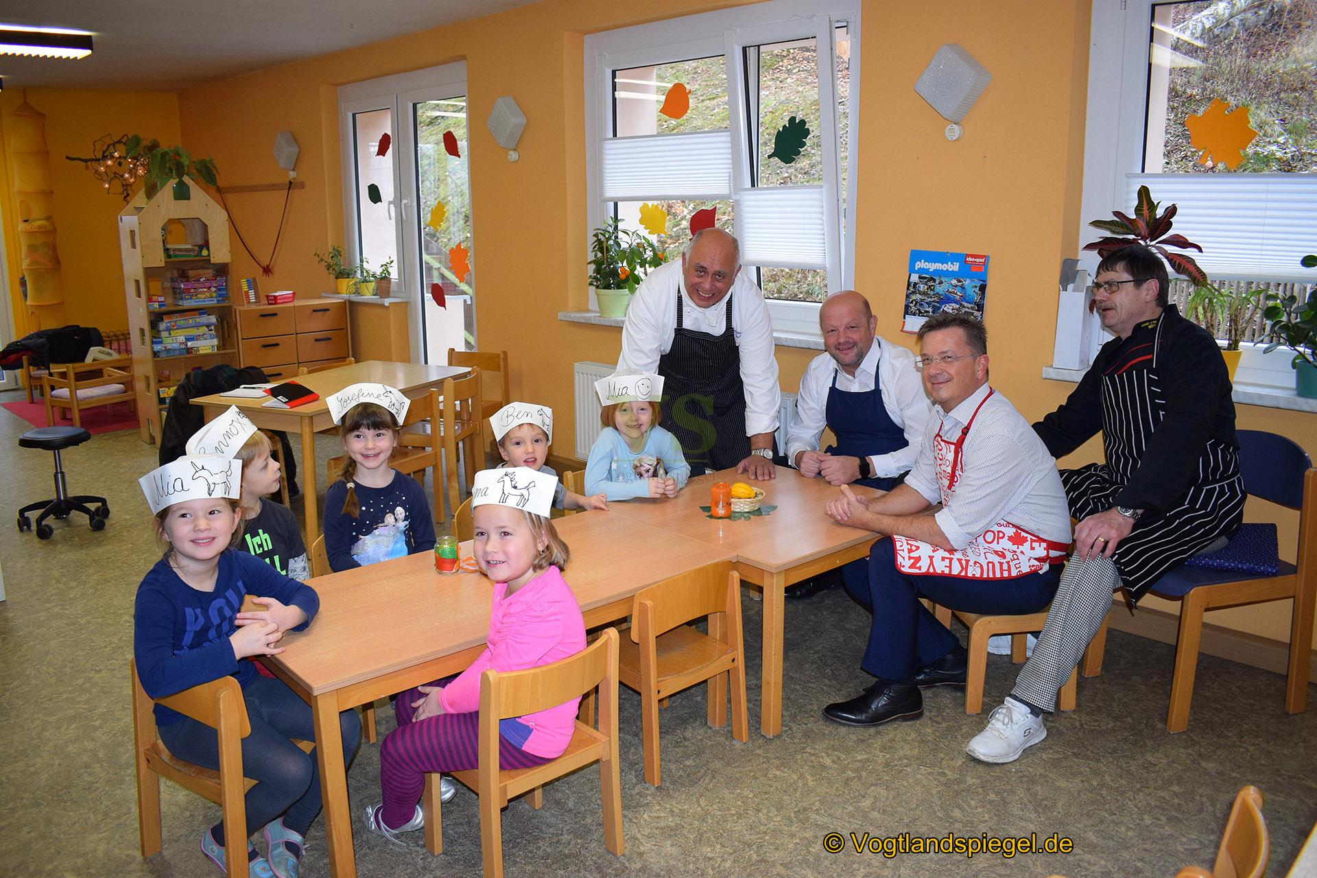Küchenmeister Harald Saul: Wenn der Pfannkuchen zu den Kindern spricht