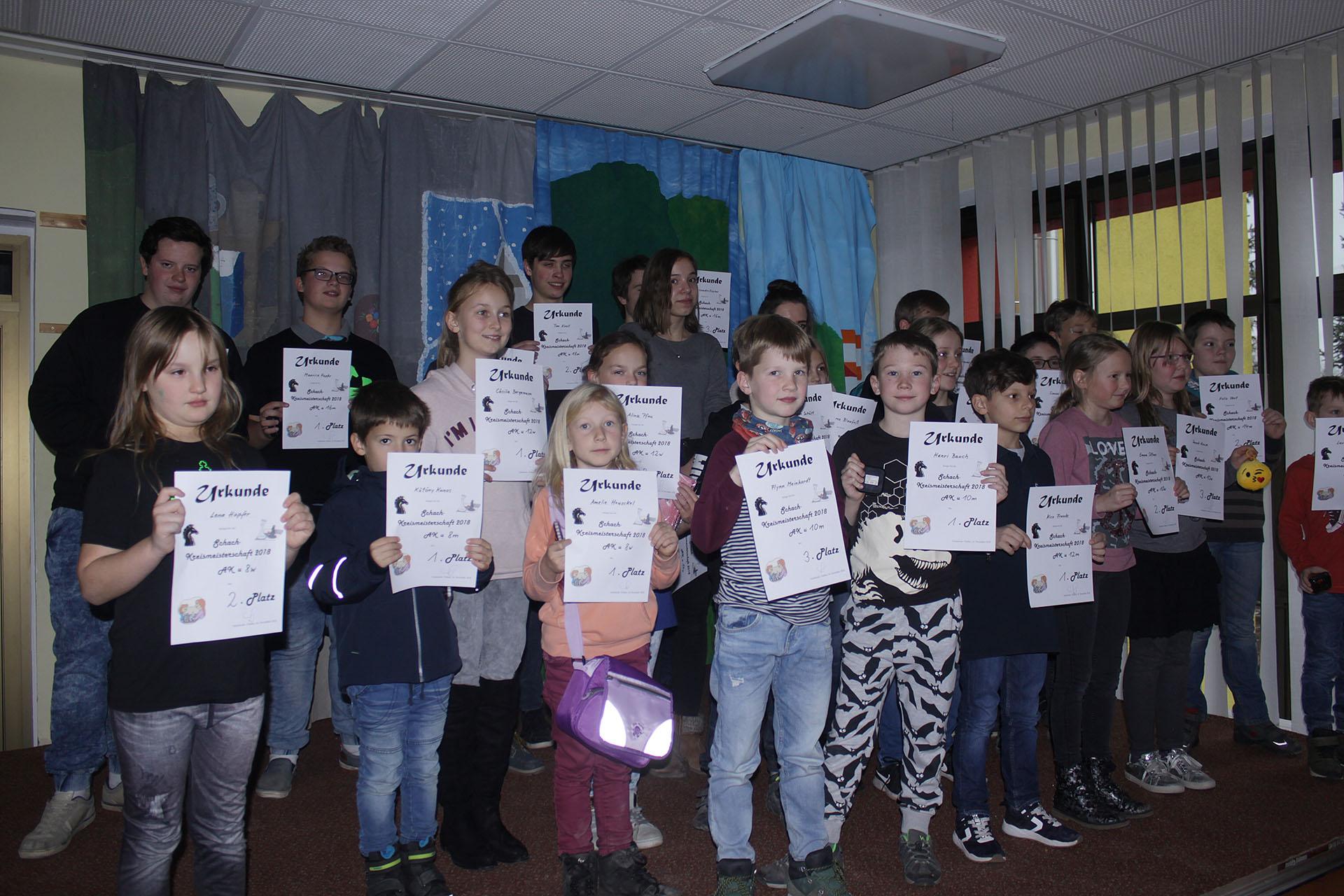 Schach: Kreiseinzelmeisterschaft der Kinder und Jugendlichen