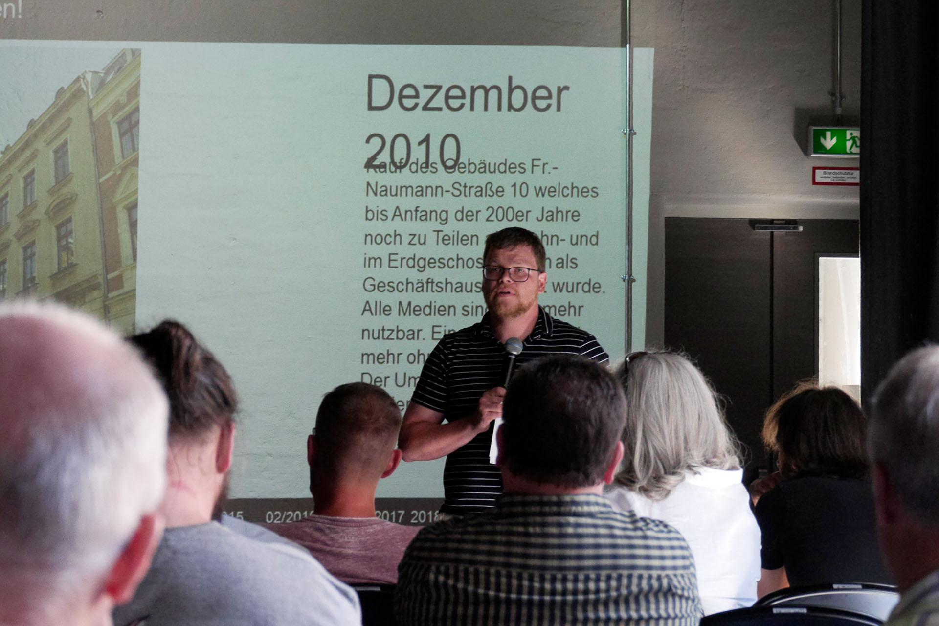 Verein the.Arter bot im 10aRium offene Veranstaltung zur Frage der Finanzierung