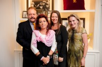 Ken and Tonie Robertson with Vogue Living editor-in-chief Victoria Carey and style director Alexandra Gordon