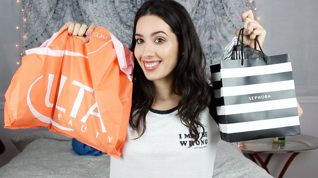 Compritas acumuladas de Sephora, Ulta y Target