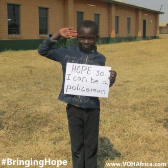 Bringing Hope - be a policeman