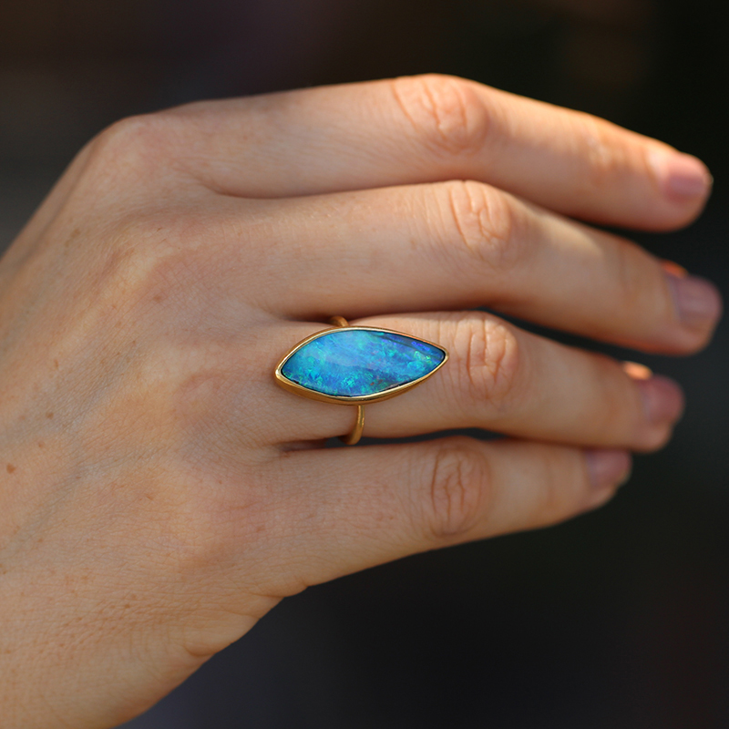 Annette Ferdinandsen Boulder Opal Marquis Ring At Voiage Jewelry