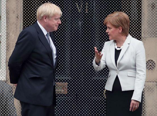 Boris Johnson and Nicola sturgeon voice britannia