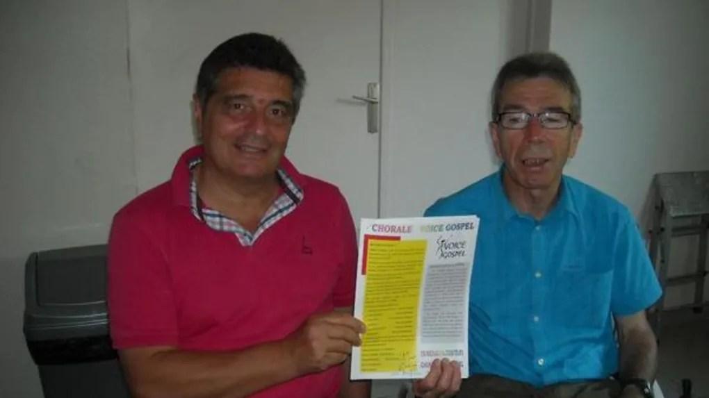 Bernard Vallée (à gauche) président avec Gérard Chabert, vice-président et un des fondateurs de la chorale Voice Gospel.
