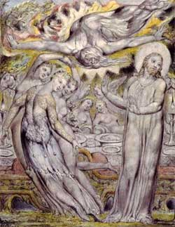 Christ refusing the banquet offered by Satan - William Blake