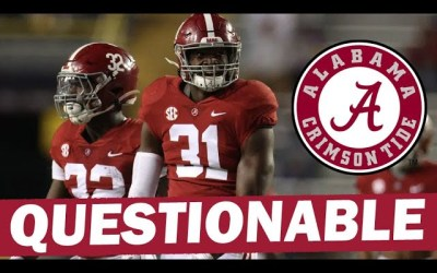 Will Anderson Questionable – Bama Depth Will Be Tested