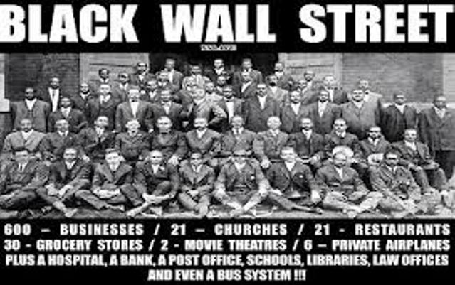 """Greenwood or """"Little Africa"""" section of Tulsa, Oklahoma, was known as """"Black Wall Street"""" before whites burned it down in 1921."""
