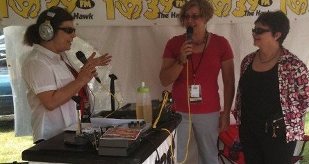 With Leigh Robert and Cindy Williams (Shirley from Laverne and Shirley) broadcasting live from a tent at the Plunkett estate