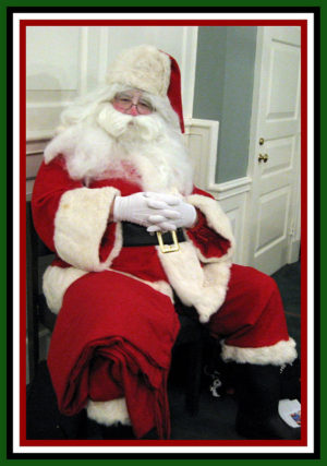 Santa Claus in a relaxing moment