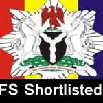 Federal Fire Service Shortlisted