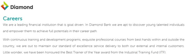 diamand bank careers