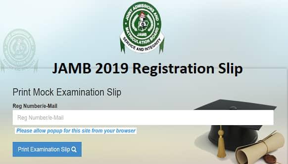 jamb 2019 registration slip