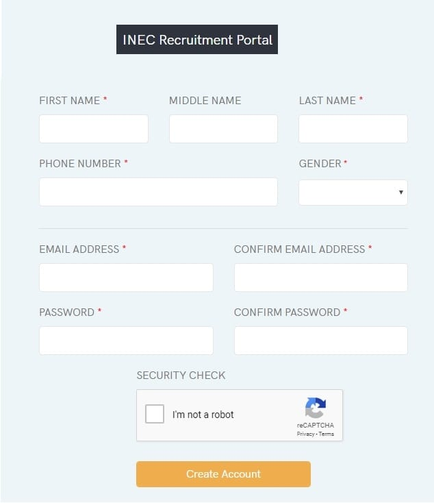 www.inecrecruitment.com portal