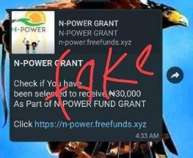 npower fake portal