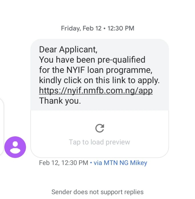 nyif loan application