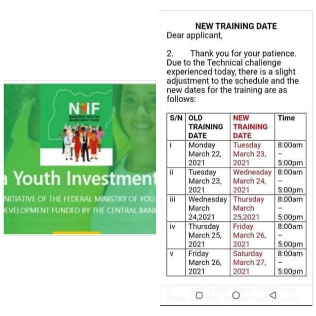 nyif training dates