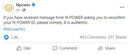 npower message