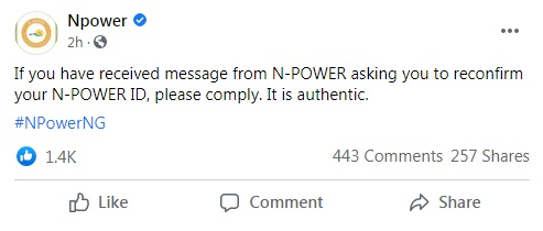 Npower Important Message for Batch C Applicants » Voice of Nigeria