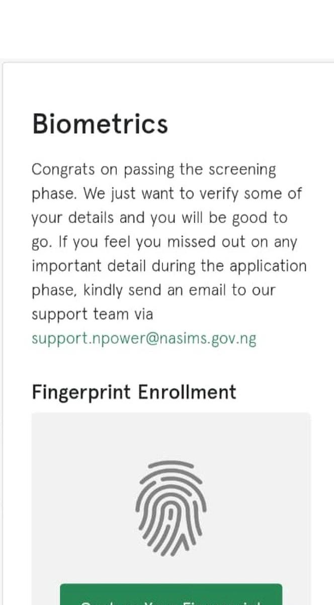 biometric npower