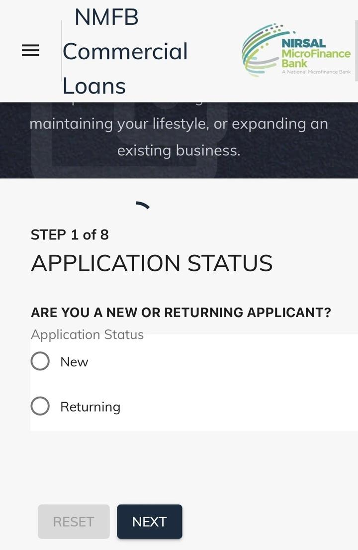 loan step 1