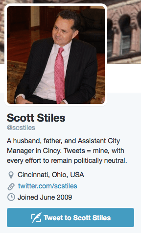 Stiles' Twitter profile as of Wednesday, June 10.
