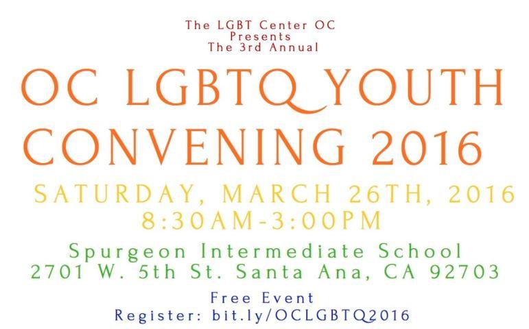 OC LGBTQ Youth Convening 2016
