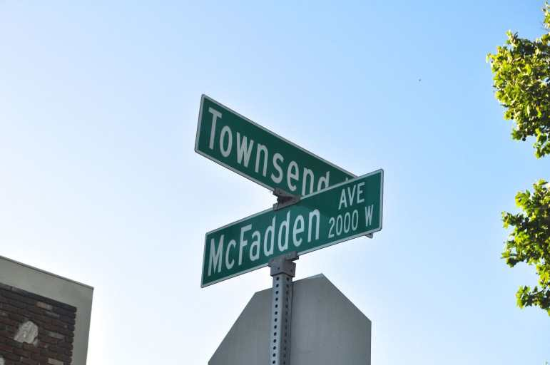 A street sign in Santa Ana's Townsend neighborhood, where residents are fighting a gang injunction.