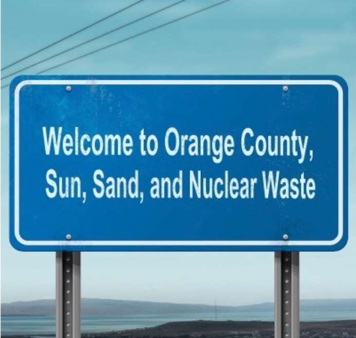 Conveniently located near 8.5 million civilians, the new San Onofre Nuclear Waste dump will be located just 100 feet from the crashing surf and sugar sand beaches of San Onofre State Beach.